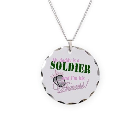 Soldier's Princess Necklace Circle Charm