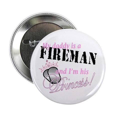 """Fireman's Princess 2.25"""" Button (10 pack)"""