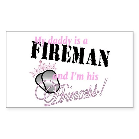 Fireman's Princess Sticker (Rectangle)