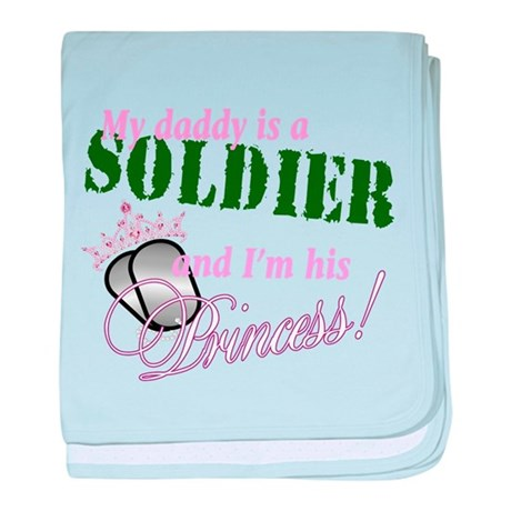 Soldier's Princess baby blanket