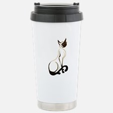 Sitting Siamese Kitty Travel Mug