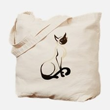 Sitting Siamese Kitty Tote Bag