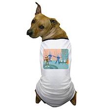 Sock Monkey Robot Cocktail Party Dog T-Shirt