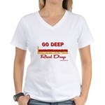 GO DEEP - Women's V-Neck T-Shirt