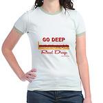 GO DEEP - Jr. Ringer T-Shirt
