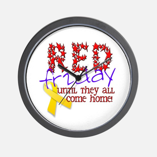 Red Friday Wall Clock