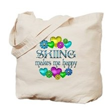 Skiing Happiness Tote Bag