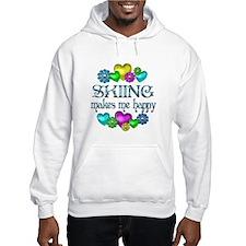 Skiing Happiness Hoodie Sweatshirt