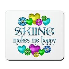 Skiing Happiness Mousepad