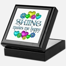 Skiing Happiness Keepsake Box
