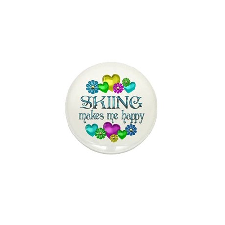 Skiing Happiness Mini Button (10 pack)