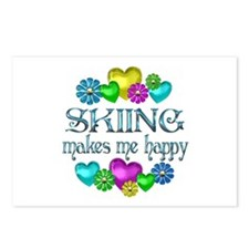 Skiing Happiness Postcards (Package of 8)
