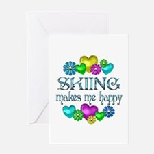 Skiing Happiness Greeting Card