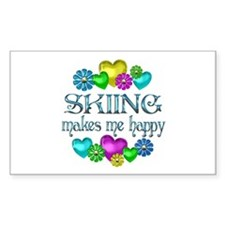 Skiing Happiness Bumper Stickers