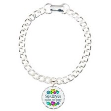 Skiing Happiness Charm Bracelet, One Charm