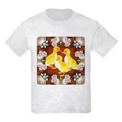 ducklings and Roses Kids Light T-Shirt