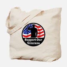 Cute Support our troops Tote Bag