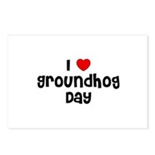 I * Groundhog Day Postcards (Package of 8)