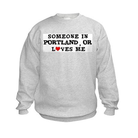 Someone in Portland Kids Sweatshirt