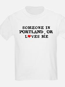 Someone in Portland Kids T-Shirt