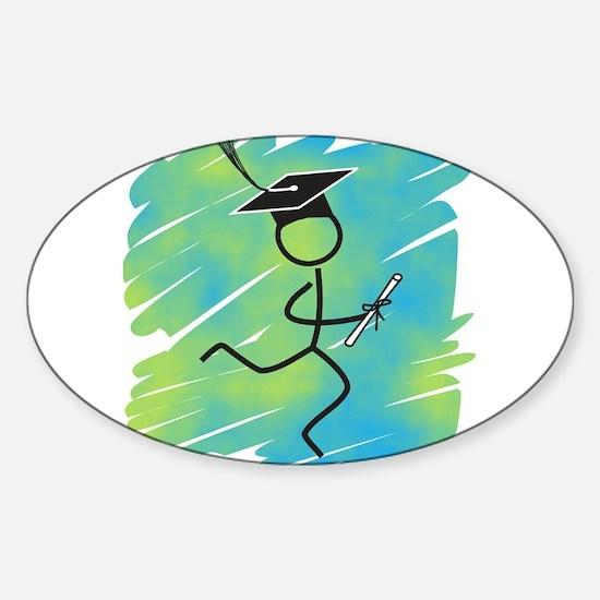 Graduate Runner Sticker (Oval)