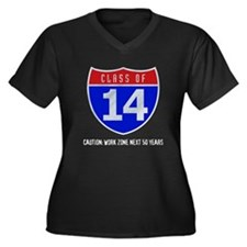 Class of 14 Road Sign Women's Plus Size V-Neck Dar