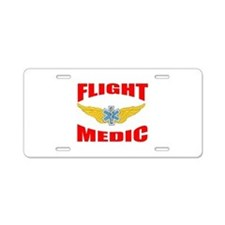 Cute Medical helicopters Aluminum License Plate
