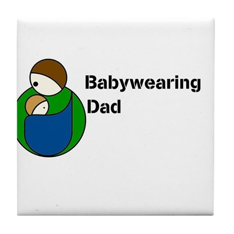 Babywearing Dad Tile Coaster