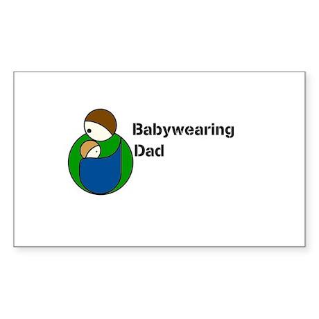 Babywearing Dad Sticker (Rectangle)