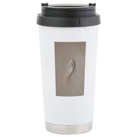 Footprint In The Sand Stainless Steel Travel Mug