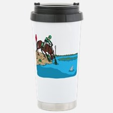 Horse at Water Jump Stainless Steel Travel Mug