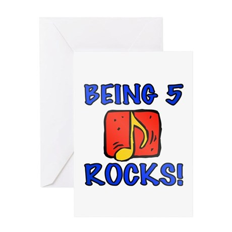 Being 5 Rocks Greeting Card