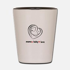 Mama Love Peace Shot Glass