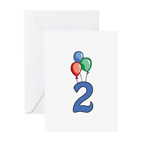 2nd Birthday Balloons Greeting Card
