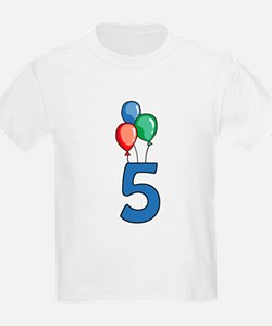 5th Birthday Balloons T-Shirt