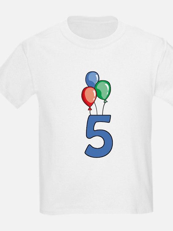 5th Birthday Balloons T-Shirt