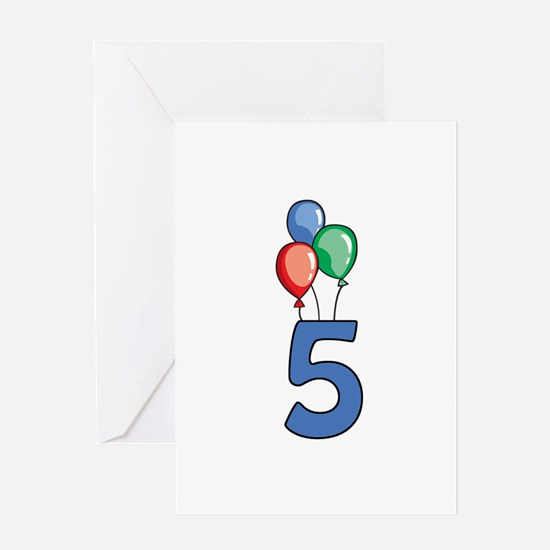 5th Birthday Balloons Greeting Card