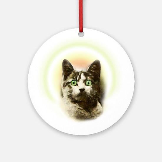 God Cat Ornament (Round)