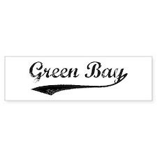 Vintage Green Bay Bumper Bumper Sticker