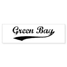 Vintage Green Bay Bumper Bumper Sticker