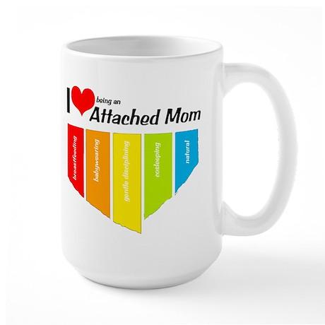 I <3 Attachment Large Mug