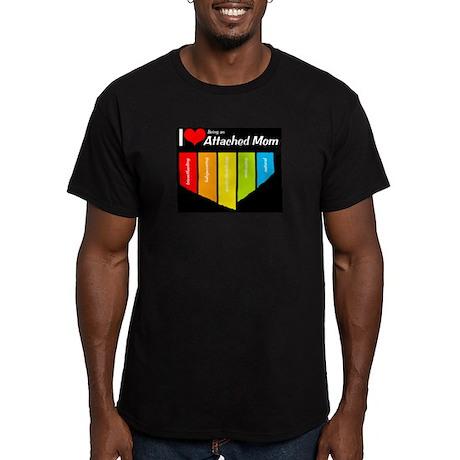 I <3 Attachment Men's Fitted T-Shirt (dark)
