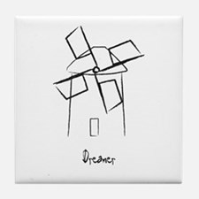 Dreamer Windmill Tile Coaster