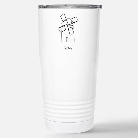 Dreamer Windmill Stainless Steel Travel Mug