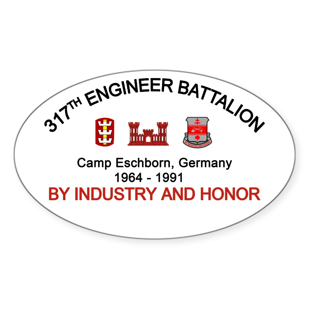 Oval 542409768 CafePress 317Th Engineer Camp Eschborn Sticker