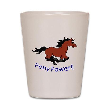 Pony Power Shot Glass
