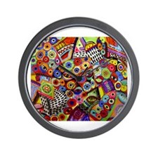 Funny Red abstract art Wall Clock