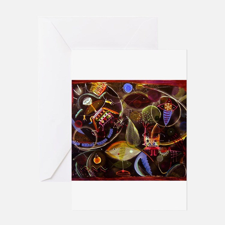 Cute Abstract painting Greeting Card