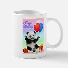 Panda's Happy Birthday Wish Mugs
