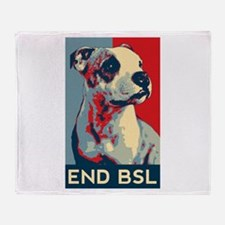 Funny Bsl Throw Blanket
